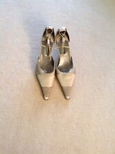 Designer Strappy Beige Leather Heels by SALLY O'HARA. New size 40EU.
