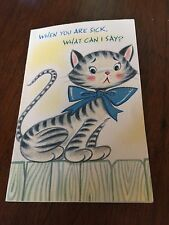 """Vintage Get Well Card """"When you are sick, what can I say?"""" Glitter NEW"""