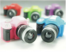 COLORFUL MINI CAMERA LUCKY CHARM KEYCHAIN-WITH FLASH LIGHT & SOUND EFFECT CA0830