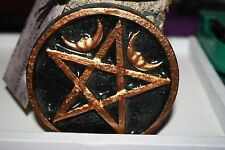 Moon over pentacle altar tile- Wicca, Pagan, Witch