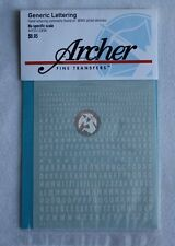 Archer Fine Transfers Various Scales Generic Hand Lettering (White) AR35109W