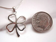 Four-Leaf Clover Necklace 925 Sterling Silver Corona Sun Jewelry Lucky Good Luck