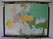 Schulwandkarte Wandkarte Schulkarte Rollkarte Europa Wien 1815 Kongress 196x150c