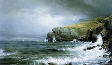 Seascape - Coast of Maine  by William T Richards   Giclee Canvas Print Repro