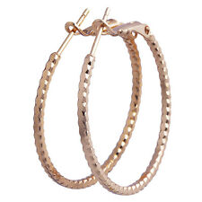 New Style Jewelry Girls Dangle 9K Yellow Gold Filled Womens Hoop Earrings