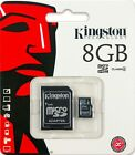 New Kingston 8GB 8G 8 GB Class 4 micro SDHC microSD Memory Flash Card + Adapter