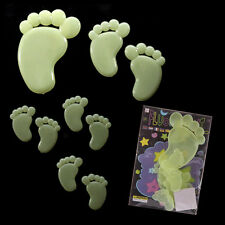 NEW GLOW IN THE DARK STICKERS FOOTPRINTS CEILING WALL BEDROOM LUMINOUS
