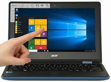 NEW Acer Sky Blue 11.6 Touch Screen 2GB 32GB eMMC Win 10 HDMI R3-131T-C1YF