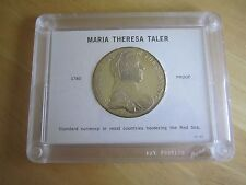 1780 Maria Theresa Taler Proof Silver Coin - Restrike in holder