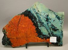 Sonora Sunset Polished Stone Slab 7 inch Chrysocolla Rock W/ Stand Sunrise #6