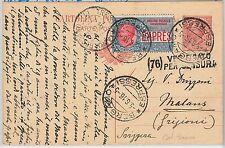 ITALIA REGNO - STORIA POSTALE:  Sass. Espressi #2 su Intero Postale 1916 CENSURA