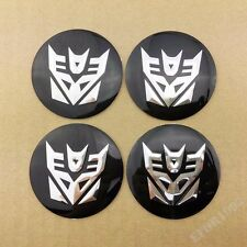 4pcs Transformers Decepticon Wheel Center Hub Cap Car Badge Emblem Decal Sticker