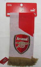 Men's Puma Arsenal Fan Scarf, New Red White Gold Official Parter Sport Soccer