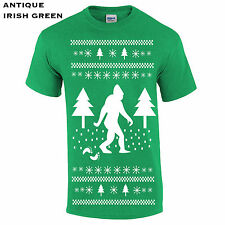 359 Sasquatch Ugly Christmas Sweater Mens T-Shirt funny cool gift cool present