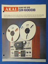 AKAI GX-600DB R2R SALES BROCHURE ORIGINAL FACTORY ISSUE THE REAL THING     v1