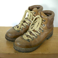 Vintage RAICHLE WOMENS Swiss Leather ALPINE Mountaineering Hiking Boots 6.5 37