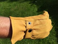 Top Quality Leather Motorcycle Glove Harley Davidson Bobber Chopper Cruiser   S