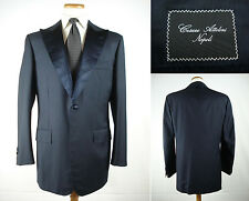 Cesare Attolini Napoli 150s Wool Tuxedo Coat Dinner Jacket Working Cuffs 52/42 R