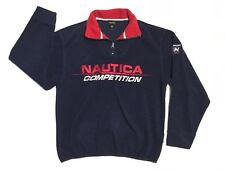 VTG Nautica Competition Nautech Fleece Sz Small Lil Yatchy Spell Out Embroidered