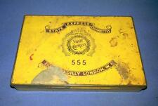 Collectible Old Vintage State Express 555 Cigarettes Ad Litho Tin Box London