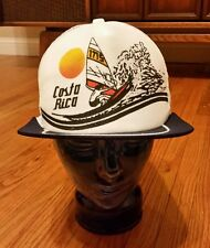 Vintage 80s Costa Rica Wind Surf Hat Cap Snap back Beach Volleyball Retro