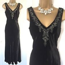 MINUET DRESS SIZE 8 Black Velvet Cruise Evening Party Races Occasion Wedding,