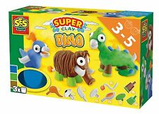 SES Creative Toys - Super Clay - Art & Crafts- Dinosaurs - Creative Set - 00497
