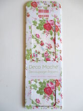 First Edition Deco Mache Decoupage Papers - Bouquet - pink blue roses decopatch