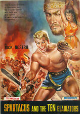 poster SPARTACUS AND THE TEN GLADIATORS 1964 Nick Nostro Dan Vadis Helga Liné