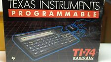 80`s Texas Instruments TI-74 Basicalc Programmable Rechner in OVP
