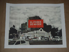 Evan Hecox El Poder De Hacer Mexico City signed silkscreen poster print sold out