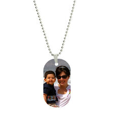 Single Side Vibrant Color Custom Personalized Photo Dog Tag Picture Pendant
