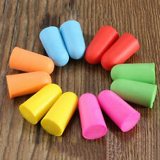 10x Pair Best Foam Soft Ear Plugs Sleep Work Travel Earplugs Noise Reducer