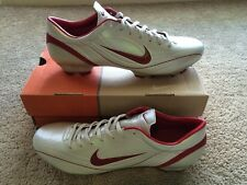 NIKE MERCURIAL VAPOR II FG SOCCER BOOTS White Red US 12.5 UK 11.5 RARE New I III