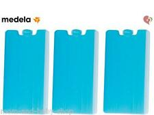 MEDELA CONTOURED COOLING ELEMENT FREEZER ICE PACK MILK TOTE CARRIER x3 #8990026