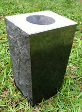 """Granite Vase Jet Black (5""""x4""""x9"""")"""