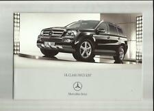 MERCEDES BENZ GL 320CDI, GL 420CDI & GL500 PRICE LIST BROCHURE AUG.2006 FOR 2007
