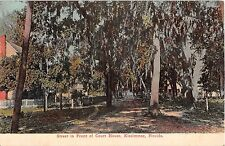 c.1908 Street in Front of Court House Kissimmee FL post card