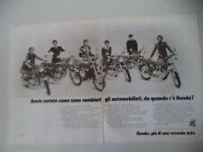 advertising Pubblicità 1975 MOTO HONDA CB 350/400/500/750 FOUR/500 TWIN