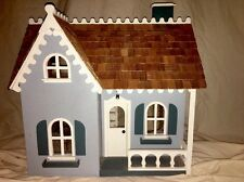 Vintage Victorian Wooden Handmade Dollhouse Country Cottage W/Furniture CUTE!