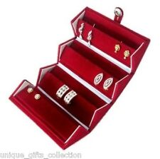 UNIQUE - Earring Box Ear Ring Nosepin Studs Tops Travel Jewelry Case Gift Paperb