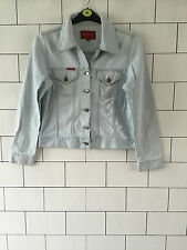 BEN SHERMAN RETRO VINTAGE OVERSIZED BIKER TRUCKER DENIM JACKET FESTIVAL 8-10