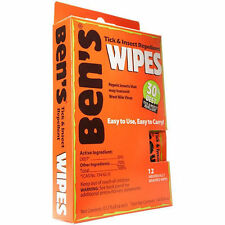 Ben's 30 Formula- 30% DEET Tick/Insect Bug Repellent Wipes Camping Hiking Travel