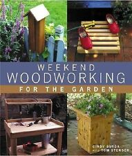 Weekend Woodworking for the Garden BENCH PLANTER FEEDER PEFESTAL NEW! FREE SHIP!
