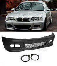 For 00-05 BMW E46 3-Series 2Dr M3 Style Front Bumper & fog lights cover