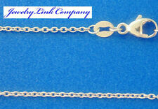 "Solid Platinum 1.55mm Oval Link Chains 20"" 5.4grams Italian Made (040)"
