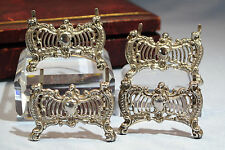 Victorian Sterling Silver 4 Place Card Holders William Comyns Circa 1895