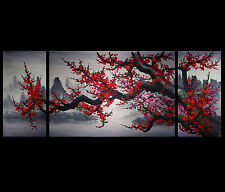 Japanese Cherry Blossom Modern Abstract Art Canvas Prints Wall Art Framed
