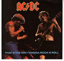 AC/DC: THAT'S THE WAY I WANNA ROCK N ROLL / KISSIN' DYNAMITE 45 RPM ANGUS YOUNG