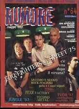 RUMORE 64/1997 FOO FIGHTERS SWEET 75 SHAM 69 YO LA TENGO NOTORIUS BIG FIRE EATER